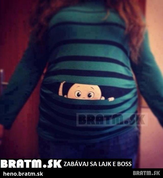 e71ef75012d0 Rozkošné tričko pre tehotné  )