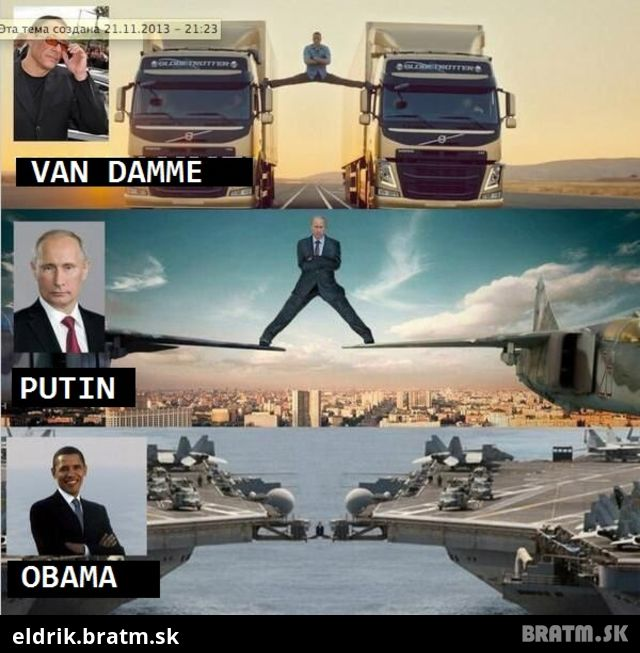 Van Damme vs. Obama a Putin :D