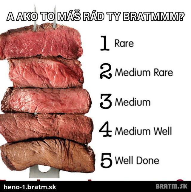Milujete steak? Tak ktory mate rad?:D