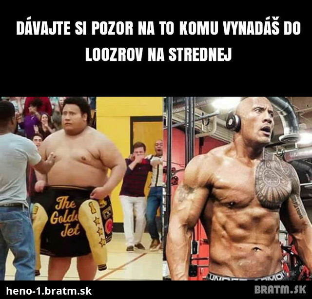 To je premena :D Filmova premena The Rock