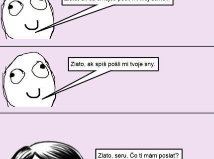 SMS medzi mužom a ženou