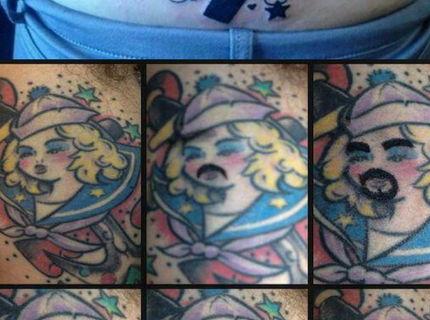 Foto séria najhorších tetovani a ich korektúry Cast 3.  :-D