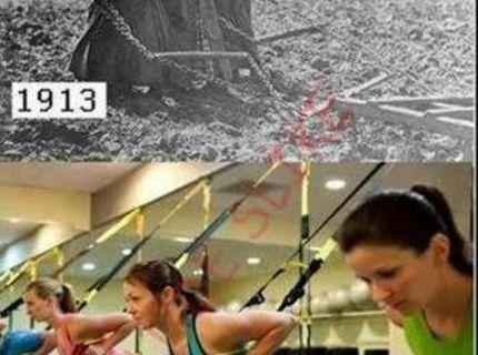 Cvičenie kedysi a dnes :) :) :) :)