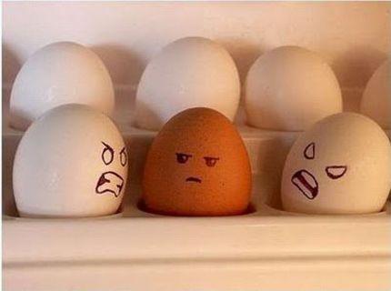 Nasrané vajíčka :) :D