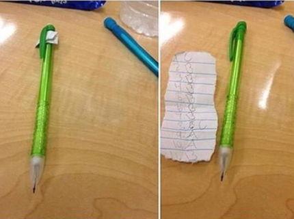 Tip na opisovanie v škole :D
