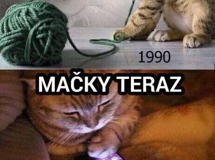 Mačky vtedy a teraz :D toto je haluz :D