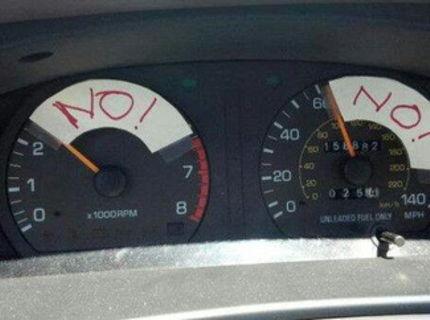 Keď muž požičia svojej babe auto :D