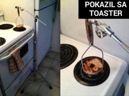 Nejde ti toaster? Tu je originálny nápad na náhradu :D