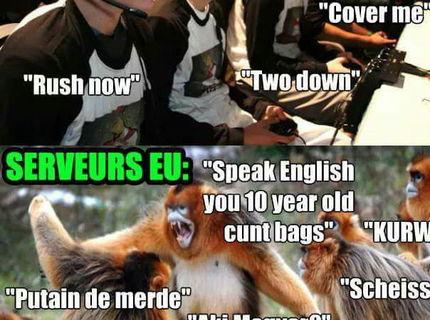 Hráči na servere v Amerike VS EUROPA :D
