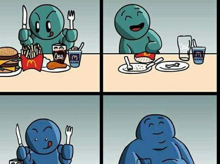 Fast food VS ľudia D: