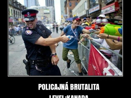 Policajna brutalita v Kanade :P