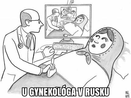 U gynekologa v rusku