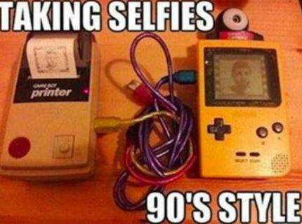Takto sa robili selfie foto kedysi :D