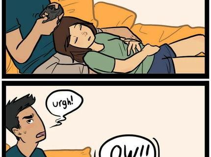 Ked vas frajer hrá plejko, počas toho ako vy spíte :D