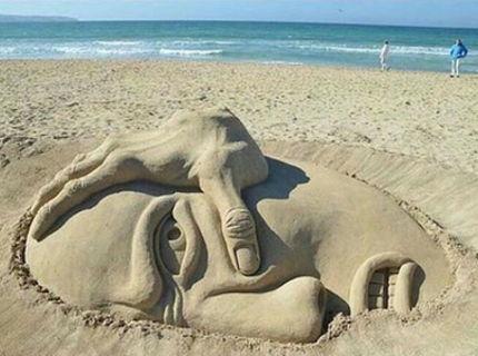 Tak toto je umenie z piesku! :D