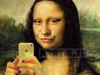 Mona Lisa- duck face :D  :)