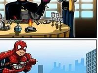 Zásadný rozdiel medzi Batmanom a Spidermanom :D