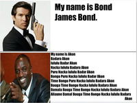 James Bond vs. Akon :D